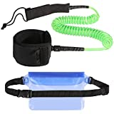 Zacro Leash Paddle 10'' Surf Correa de Surf elástica y Flexible para Tabla de Surf Paddle Leash...