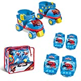 Spiderman - Spiderman - Set de patines infantiles con protecciones, talla 22 a 29 (Mondo MD-18390)...