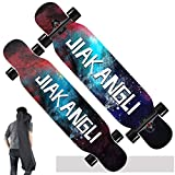 SSCJ Tallado Longboard/Skateboard para City and Park Cruising, Tabla Completa. 9 Capas de Maple...