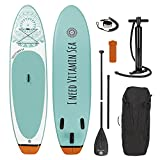 EASYmaxx - MAXXMEE Stand-Up-Board 'I Need Vitamin Sea' | Incluye Bolsa de Transporte, Kit de...
