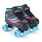 Chica Toyrific - Patines Retro, color Negro Black/Blue/Pink/White, talla 29