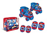 Spiderman Spiderman-18390 Set de Patines Infantiles con Protecciones, Talla 22 a 29, Multicolor...