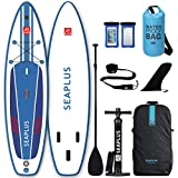 SEAPLUS Tabla de Paddle Surf Hinchable Tabla Stand Up Paddle Board Rígida con Accesorios de Remo de...