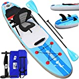 Tabla Hinchable Paddle Surf Sup Paddel Surf Bomba, Asiento de Kayak, Almohadilla integrada, Aleta...