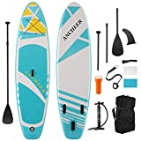 ANCHEER Tablas hinchables de Paddle Surf, Tabla de Remo de pie con Paleta de Aluminio, Sup Paddle...