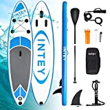 INTEY Tabla Paddle Surf Hinchable 305×76×15cm, Sup Paddle Remo Ajustable,Tabla Stand Up Paddle...